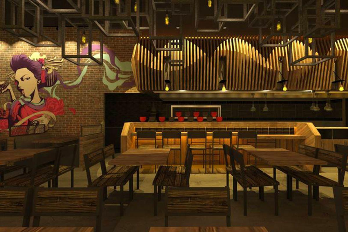 Jinya Ramen Bar rendering