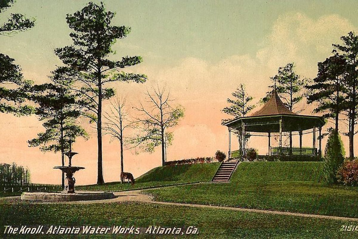 [Historic postcards, images courtesy Friends of Atlanta Waterworks.]