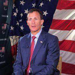 U.S. Men's Hockey coach Tony Granato at the Olympic Media Summit in Park City Utah, Monday, Sept. 25, 2017.