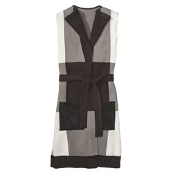 Belted Layering Vest in Grey/Black Plaid, $39.99, (XS-XXL, 1X-3X*) *Target.com Only
