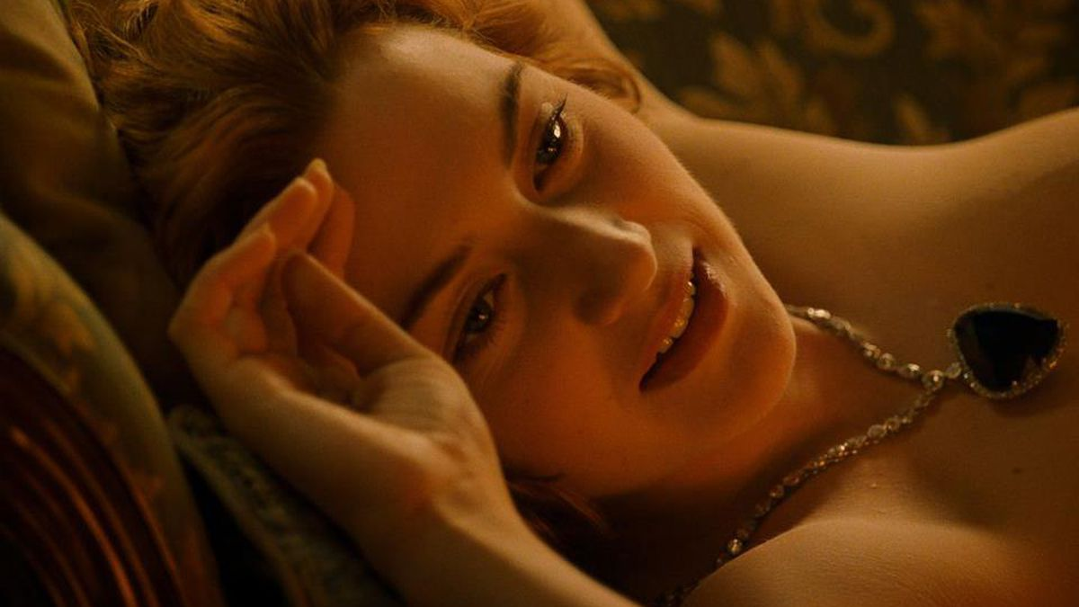 Kate Winslet as Rose in Titanic.
