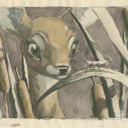 <b>Mel Shaw, visual development for Bambi, c. 1942.</b>