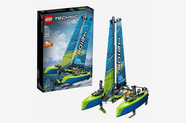 A product shot of the Lego Technic Catamaran Building Kit