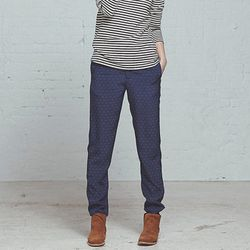 """<b>Steven Alan</b> Silk James Pant in Navy/Yellow, <a href=""""http://www.stevenalan.com/Silk-James-Pant/848785087409,default,pd.html#cgid=womens-clothing-pants-and-shorts&view=all&frmt=ajax&start=0&hitcount=61"""">$268</a>"""