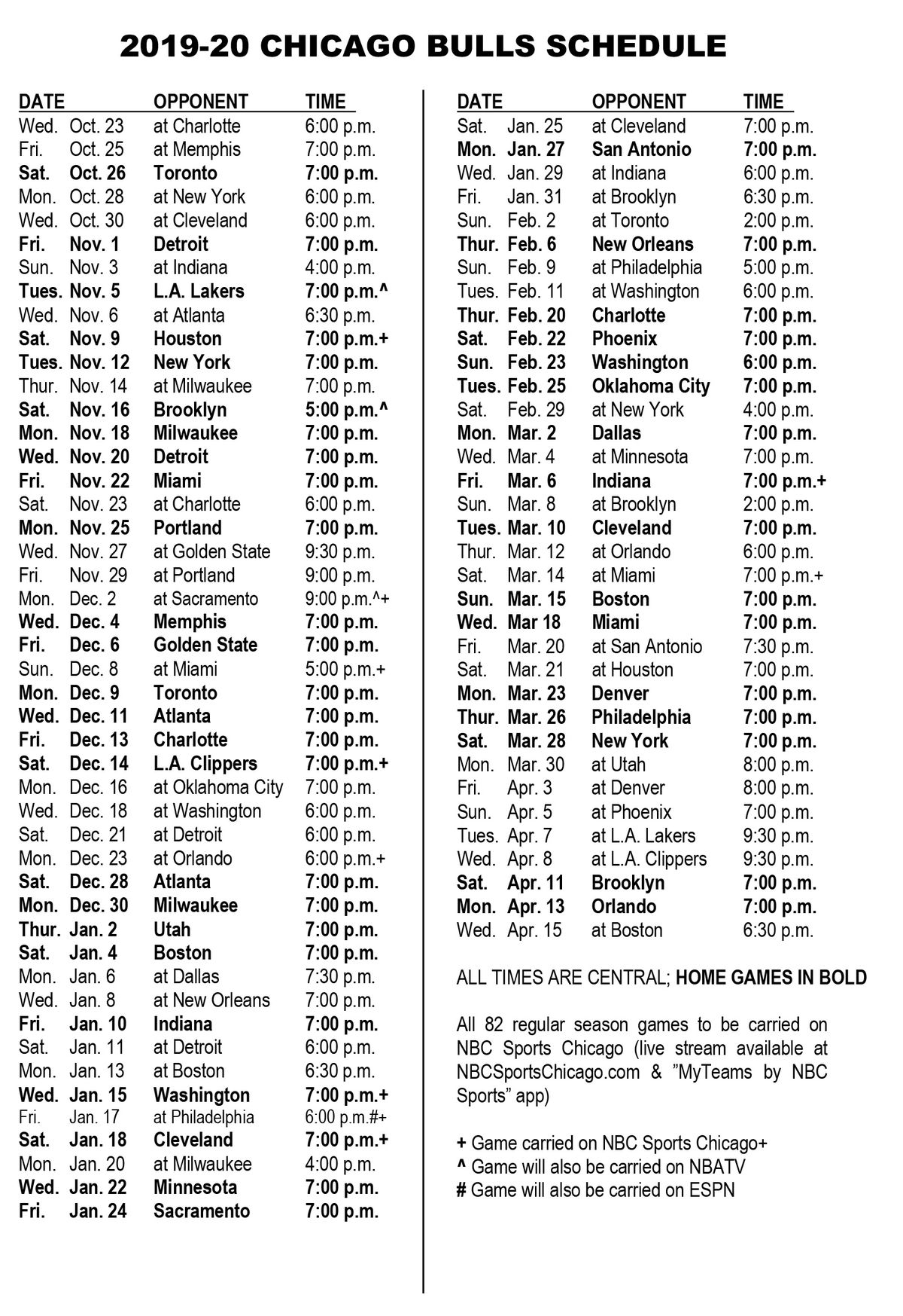 Gutsy image within chicago bulls schedule printable