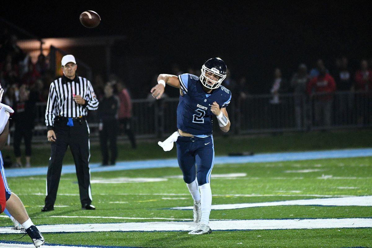 Nazareth's JJ McCarthy leads the list of the area's top 10 quarterbacks