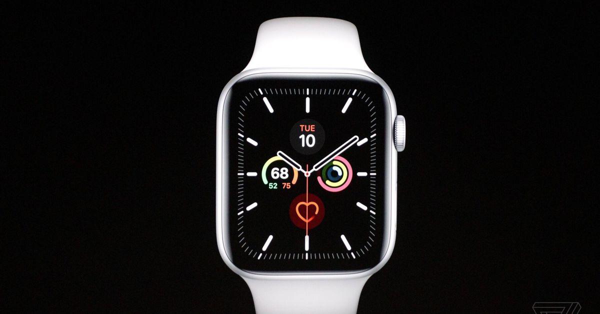 New Apple Watch Series 5: always-on display