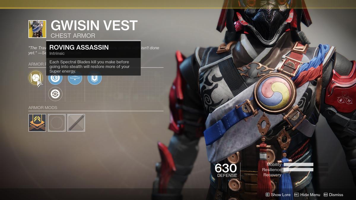 Gwisin Vest Exotic Destiny 2