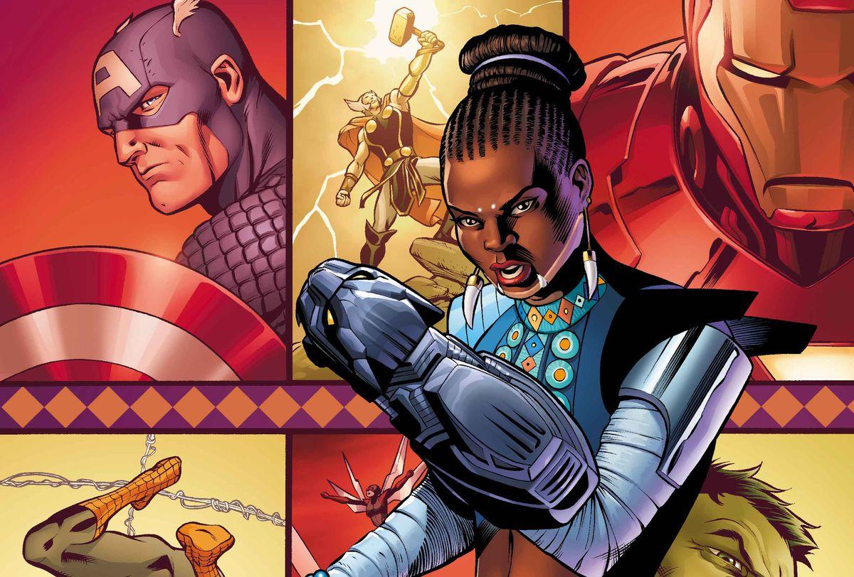 Variant cover for Shuri #1, Marvel Comics (2018).