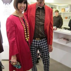 Colorful guests Trina Turk and Jonathan Skow