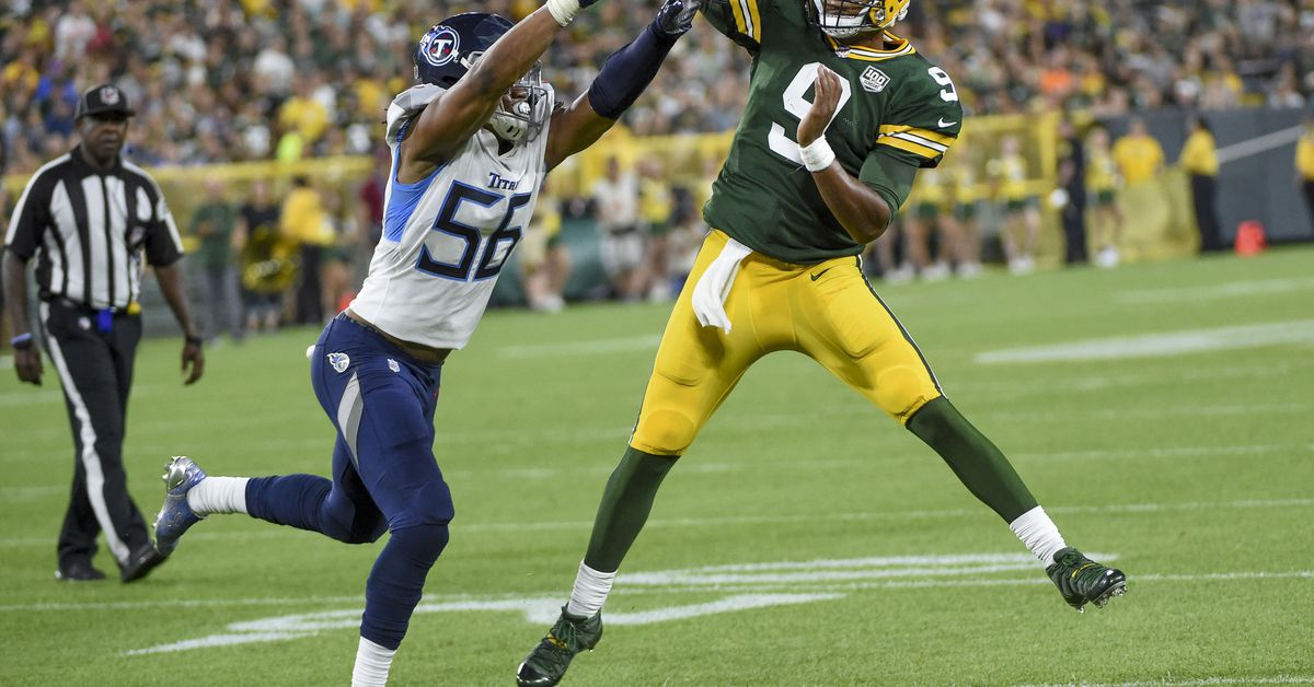 Sharif Finch put on a pass rushing clinic in the middle of the Titans-Packers preseason game