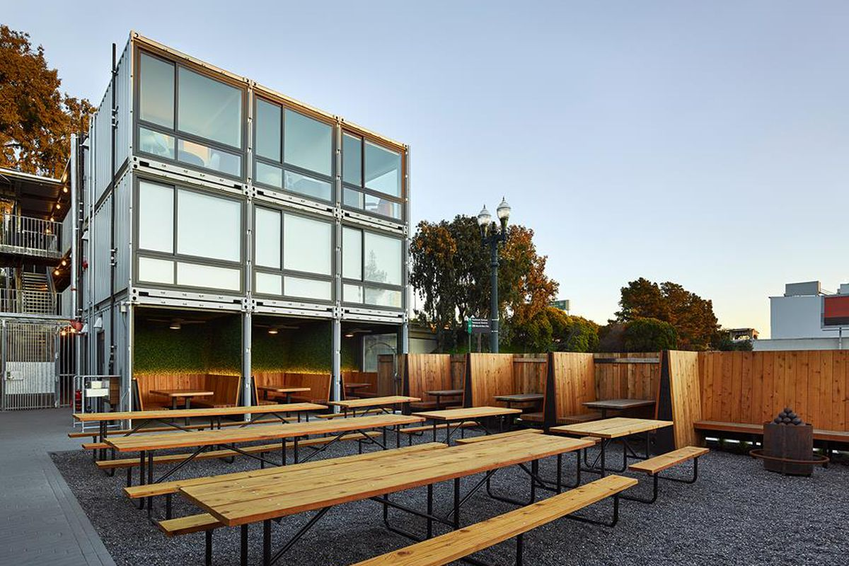 The beer garden at Arthur Mac's