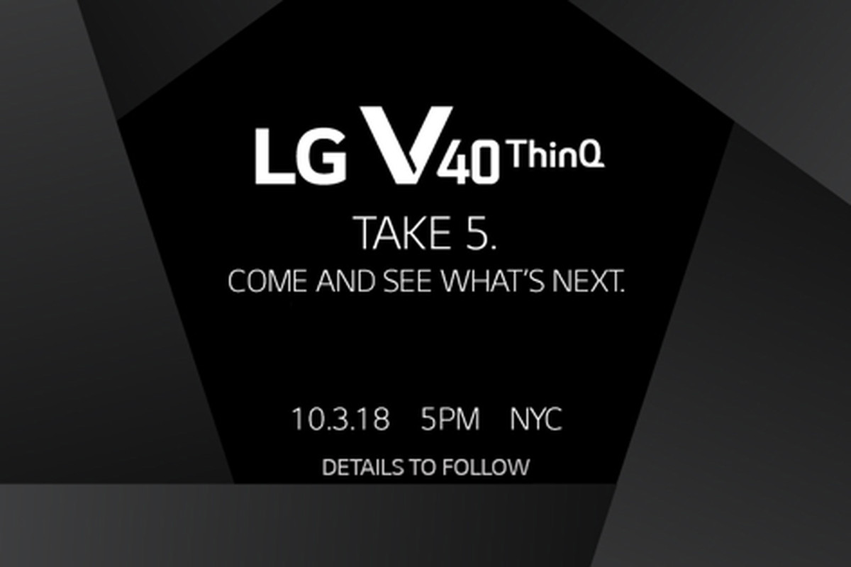 LG's five-camera V40 will be announced on October 3rd - The