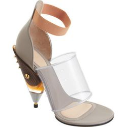 """Givenchy Gradient Cone Heel Sandal $1,769 at <a href=""""http://www.barneys.com/Givenchy-Gradient-Cone-Heel-Sandal/502541168,default,pd.html?cgid=womens-shoes&index=19"""">Barneys</a>."""