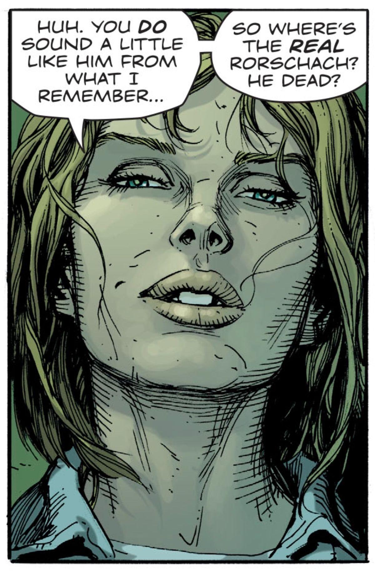 Erika Manson, the Marionette, in Doomsday Clock #1 (2017), DC Comics.