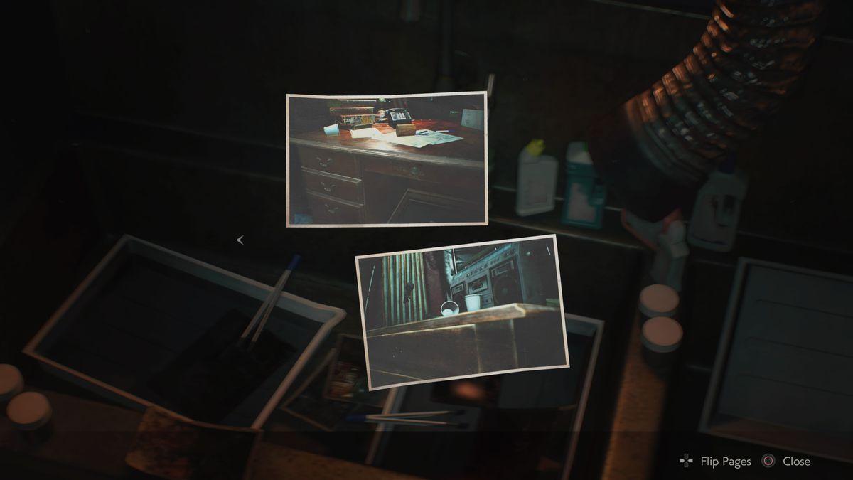 Resident Evil 2 hiding place pictures