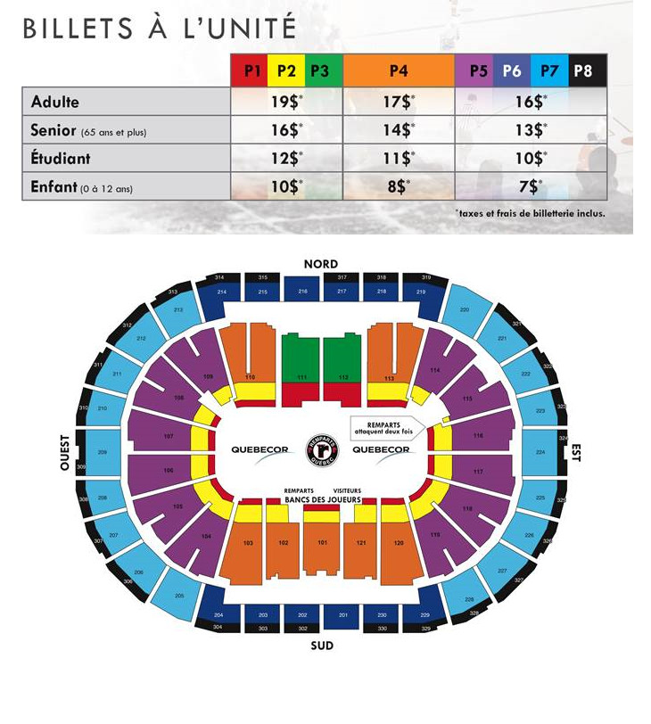 Quebec Remparts seating chart