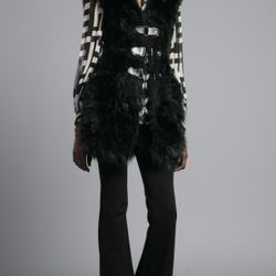 Tracy Reese Combo Vest in black (we liked the creamy ivory in person), $375