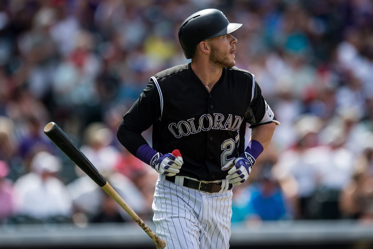 rockies trevor story has adjusted to big league pitching