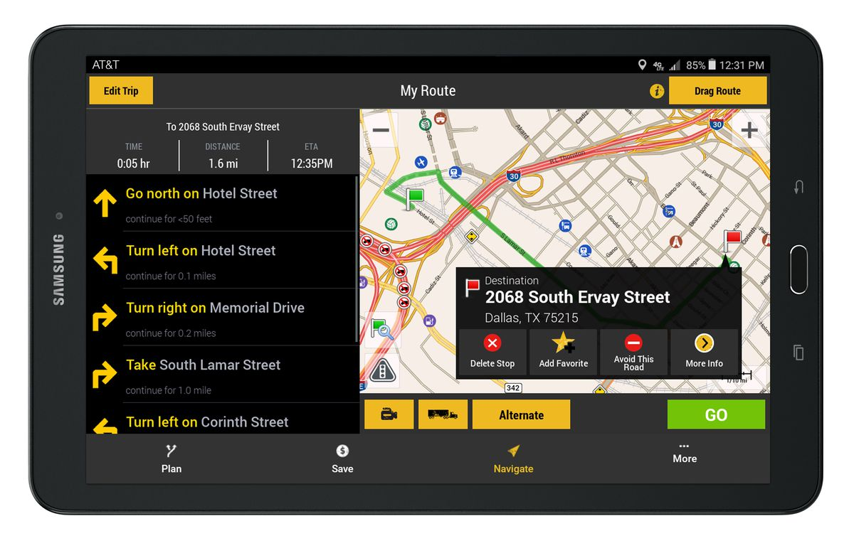 Truck Gps App >> There S A New Tablet App Just For Big Rig Drivers The Verge