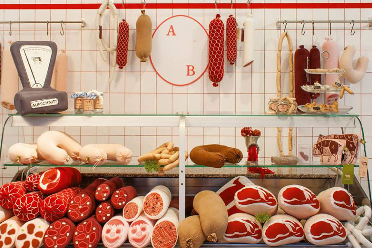 The Plush Sausages At Berlin S Textile Butcher Shop Look