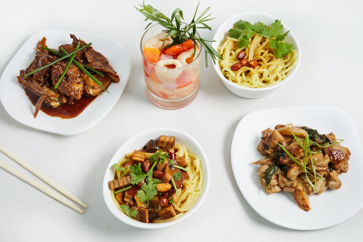 The Assembly vendor Beng Beng advertises an assortment of Asian street food