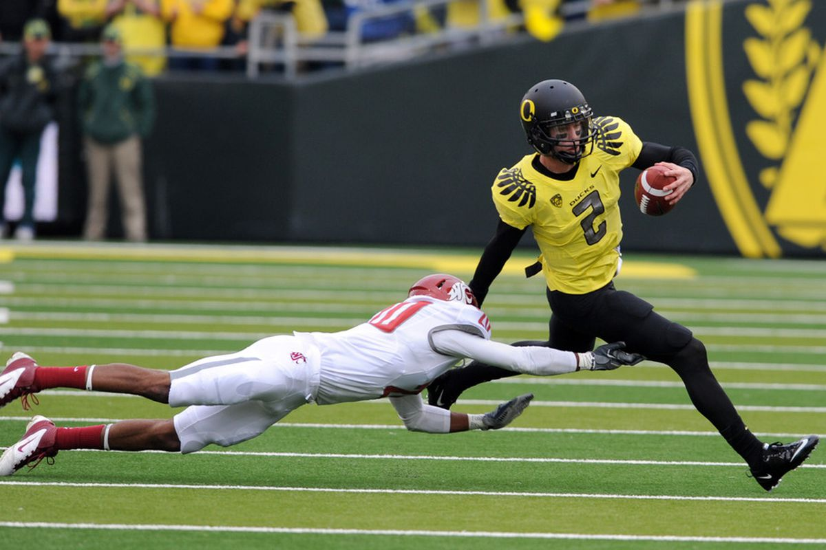 The Cougars hung around with Oregon for most of the day, but in the end, the Ducks' speed was too much for WSU.