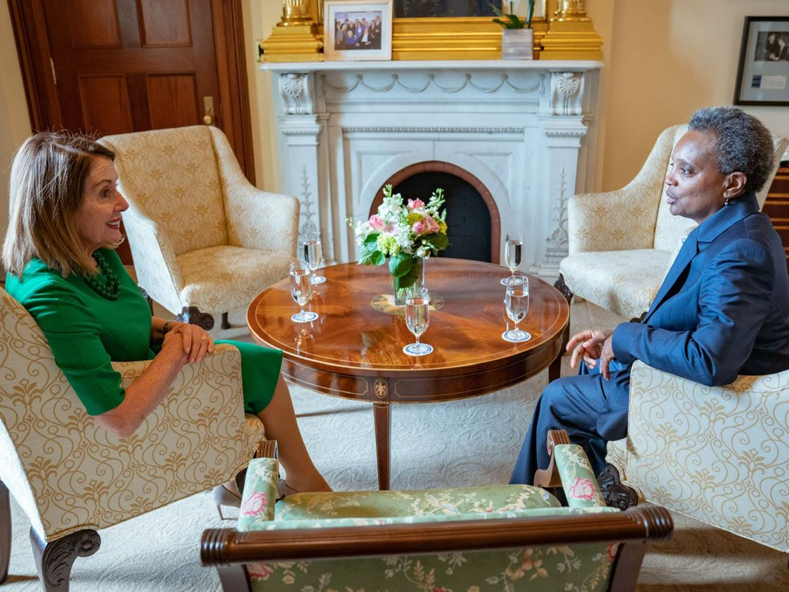 Mayor-elect Lori Lightfoot visited the Capitol on Tuesday for a series of meetings with top House Democrats, including Speaker Nancy Pelosi. | Provided photo