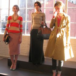 How cute is that trench? And how Jenna Lyons is the styling on the left?