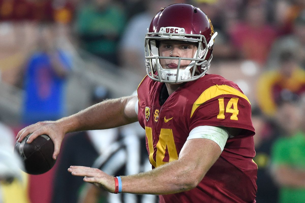 buy online d83c9 b3eaa Meet Sam Darnold, the QB who's helped turn around USC's 2016 ...