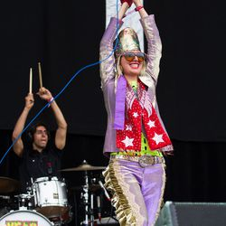 Karen O was characteristically over the top.