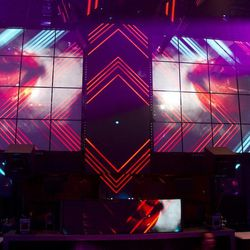 The LED screens at Light Nightclub.