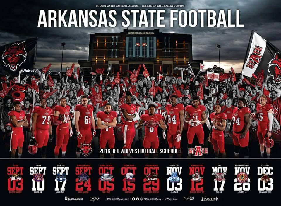 Perhaps the first college football schedule poster that gives a crap about the fans.