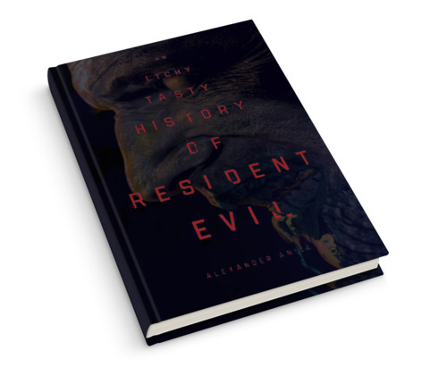 A zombie face appears on the cover of a book