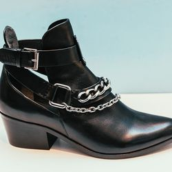 """""""I can't wait for the weather to get warmer so I can wear these booties with a flirty dress—just enough to toughen up the outfit."""" <b>Belle by Sigerson Morrison</b> Demetra in black, <a href=""""http://www.bellenyc.com/DEMETRA-p-20053-b-65362-col-267-cat.htm"""
