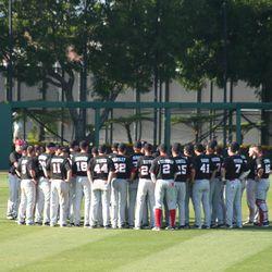 Husker Baseball: Team meeting