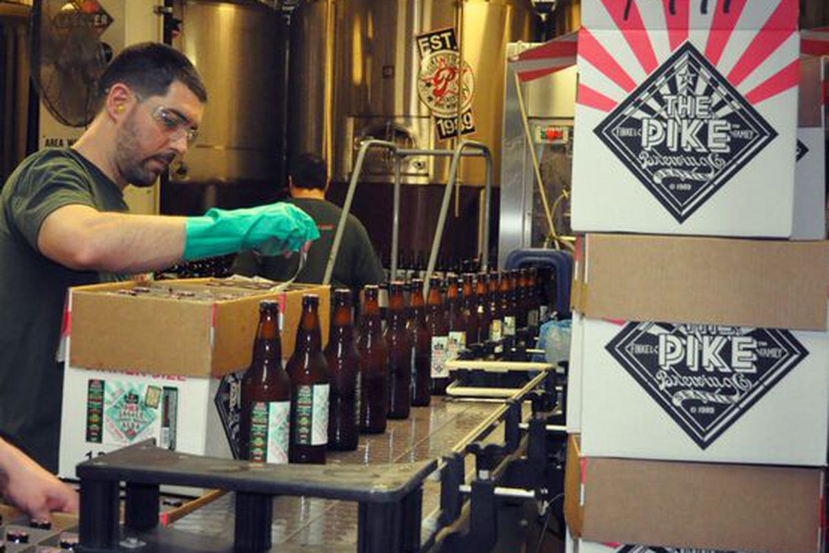 Pike Locale bottling line