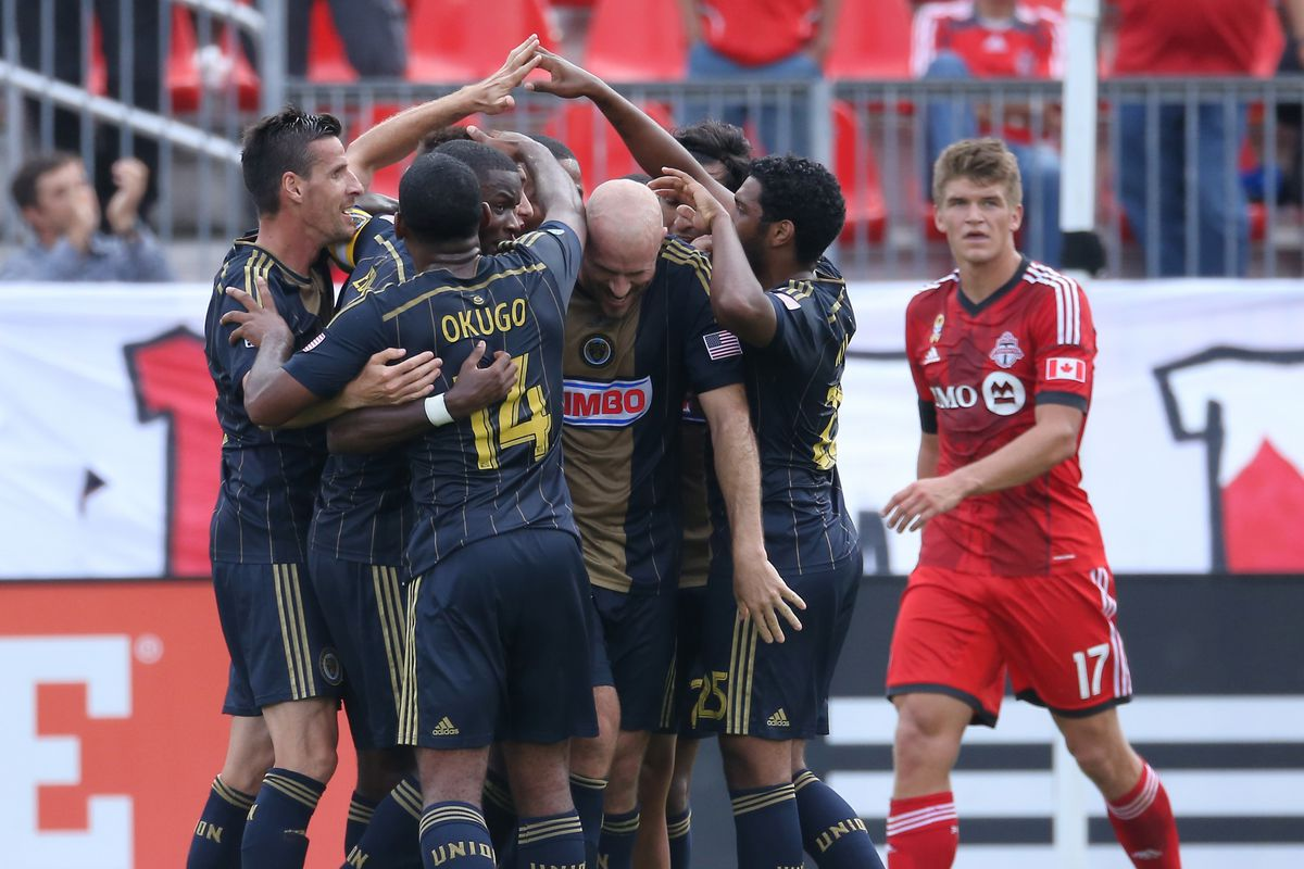 This Toronto player tried to sneek into the Union's celebrations to see what it felt like.