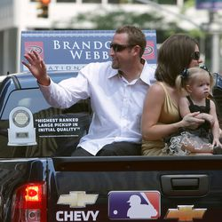 Webb and family during the MLB All-Star Game Red Carpet Parade on July 15, 2008 in New York.