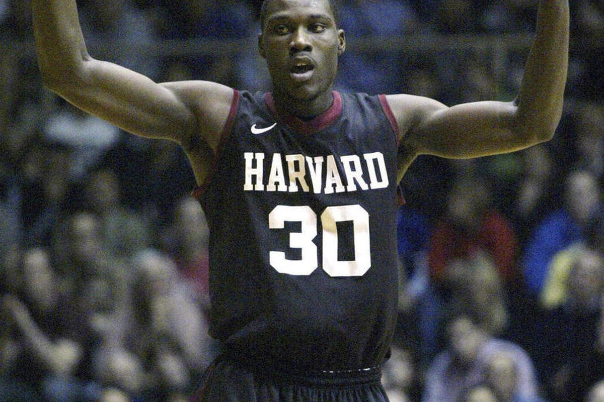 FILE - In Feb. 10, 2012, file photo, Harvard's Kyle Casey (30) celebrates after he scored against Penn in the first half of an NCAA college basketball game in Philadelphia. Casey plans to withdraw from school amid a cheating scandal that also may involve