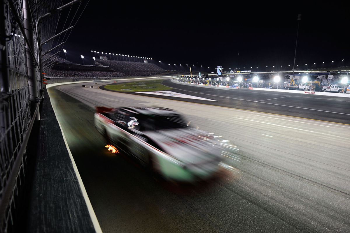 Brad Keselowski races at Kentucky Speedway during the NASCAR Nationwide Series Feed the Children 300 on July 8, 2011.