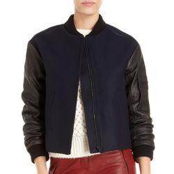 "<b>A.L.C.</b> Lennon Bomber jacket, <a href=""http://www.barneys.com/A.L.C.-Lennon-Bomber-Jacket/502125374,default,pd.html?cgid=womens-jackets&index=3"">$794</a> at Barneys"