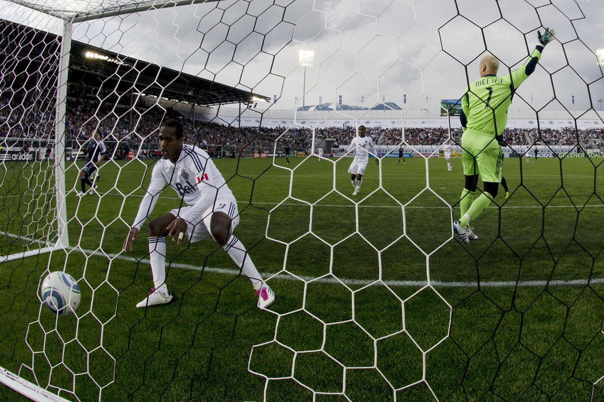 <strong>Sporting KC</strong> goalkeeper <strong>Jimmy Nielsen</strong> must have felt like a man alone on an island Saturday night against <strong>Vancouver Whitecaps</strong>.