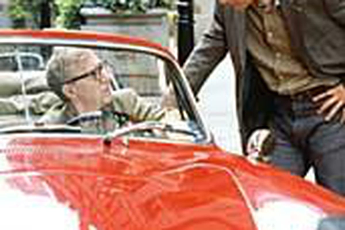 """David (Woody Allen) advises Jerry (Jason Biggs) about his life, love and career in """"Anything Else."""" Allen plays a supporting role in the film."""