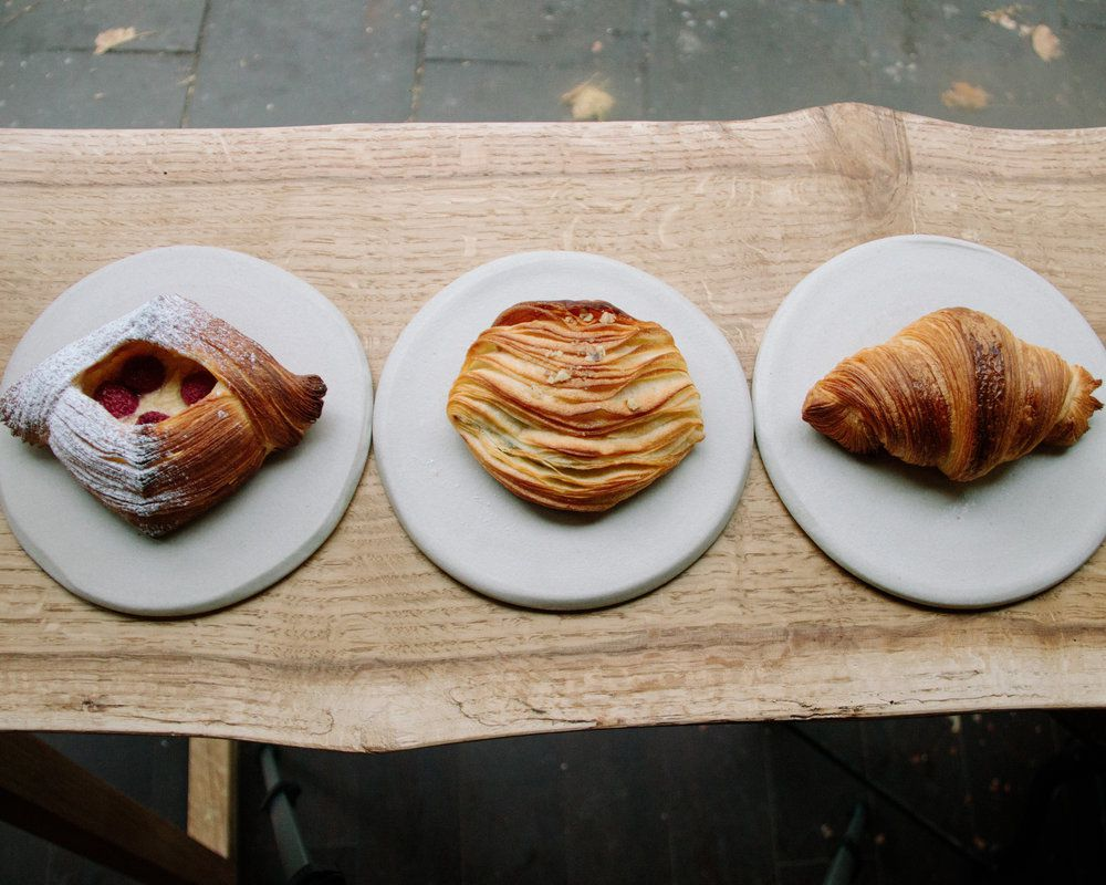 Pastries and croissants at Pophams Bakery, one of the best restaurants in Islington