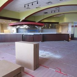 A look at the main dining room at Metro Pizza.