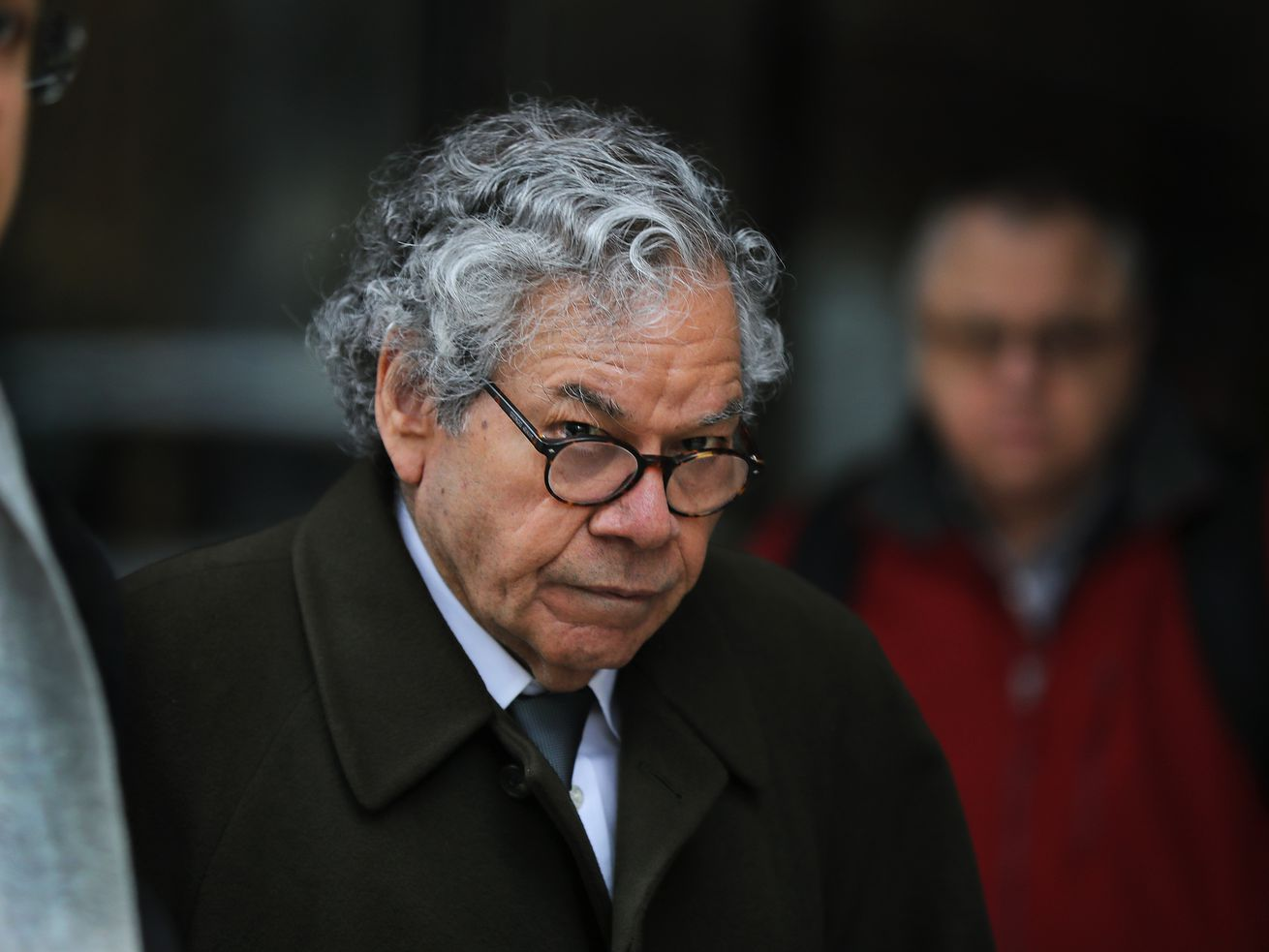 Insys Therapeutics founder John Kapoor leaves federal court in Boston on March 13, 2019.