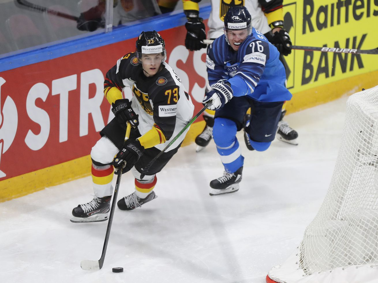 Lukas Reichel played for Germany in the World Championships.