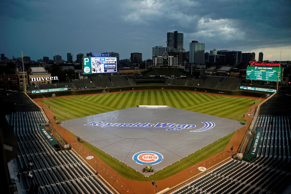 Bad weather forced the postponement of Tuesday's Cubs-Rockies game. It will be made up as a doubleheader on Wednesday.