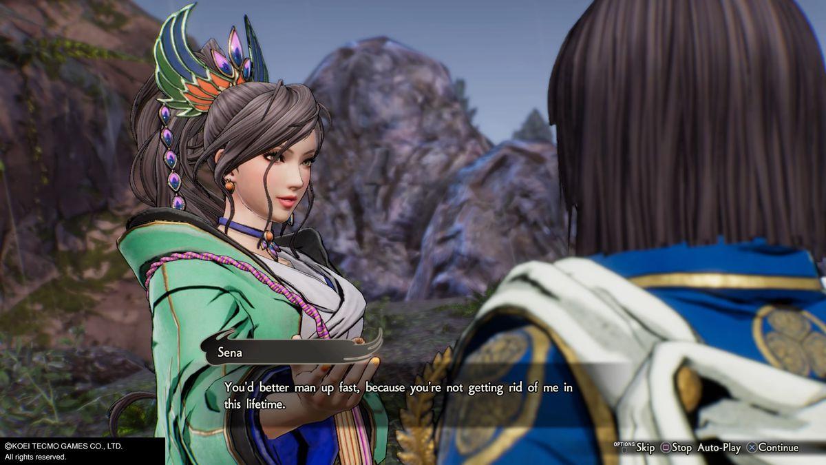 """Sena tells Ieyasu that he'd better """"man up fast"""" in Samurai Warriors 5"""